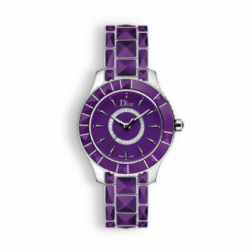 CHRISTIAN DIOR Christal Diamond & Purple Sapphire Dior Christal Ladies Watch CD143112M001